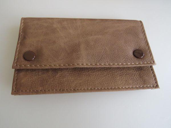 Feinschnitt Tasche washout hellbraun 15x9 cm
