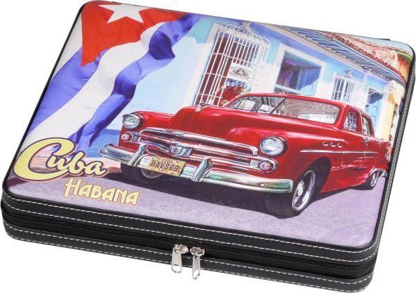 """Cigarren Reisehumidor """"Cuba"""" mit Reißverschluss für ca.10 Cigarren , 560801"""