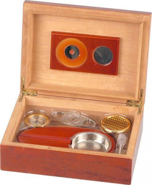 Humidor-Set Rosenholzfurnier für ca. 25 Cigarren, 569101