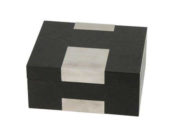 Humidor Echtholzfurnier schwarz matt für ca. 25 Cigarren , 561111
