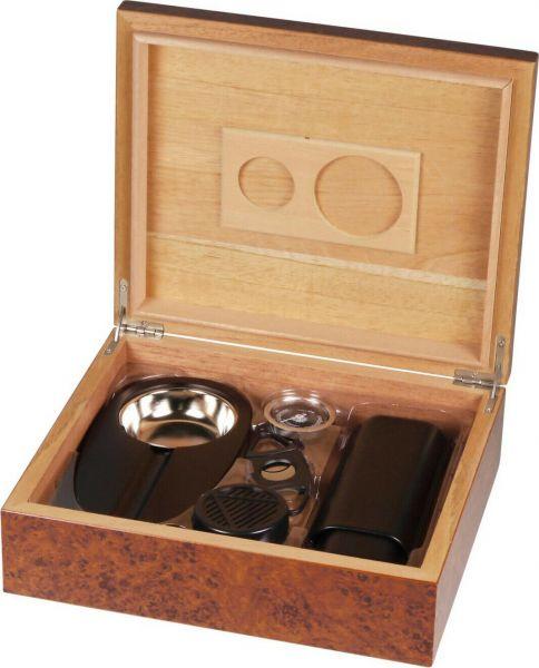 Humidor-Set Wurzelholz für ca. 25 Cigarren , 569104