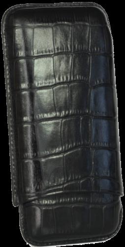 Martin Wess 597 Croco Black - 3 Petit Corona #10439 ANGEBOT!!!