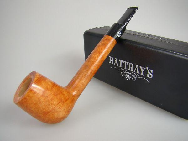 Rattray's Pfeife Kyloe Canadian Hellbraun Poliert Sattelmundstück 9mm #1754