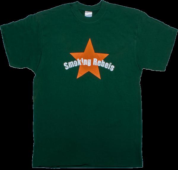 No Name T-Shirt Smoking Rebel Green, Größe L